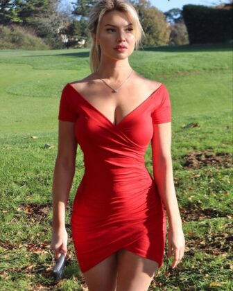 Lucy Robson red dress