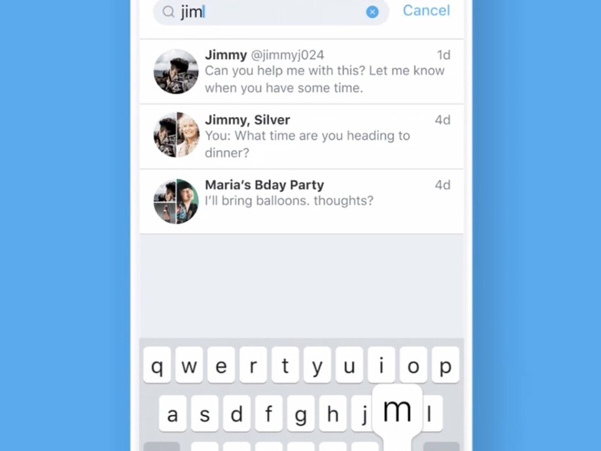 New Search Option for Direct Messages by Twitter